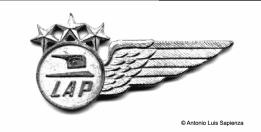 El brevet de los tripulantes de cabina de LAP. Foto copyright: Colección de Antonio Luis Sapienza.