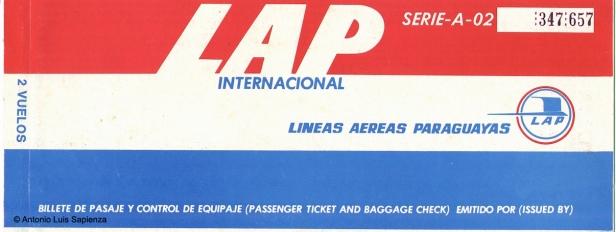 Pasaje Electra: Un típico pasaje de LAP en la era de los Electra C. Foto copyright: Colección de Antonio Luis Sapienza.