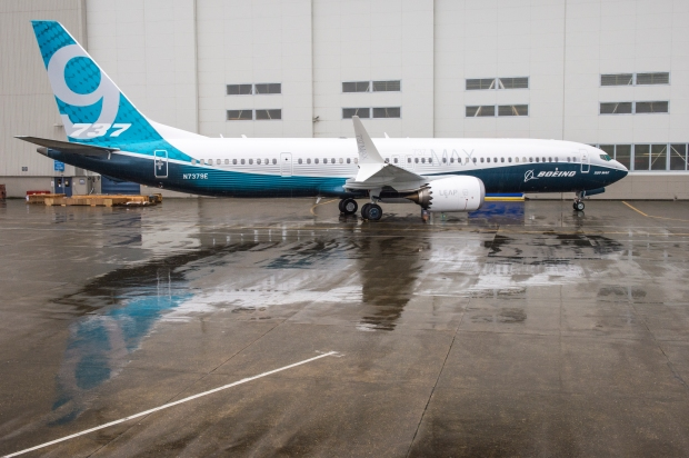 MAX 9 Parked Outside Renton Factory Doors