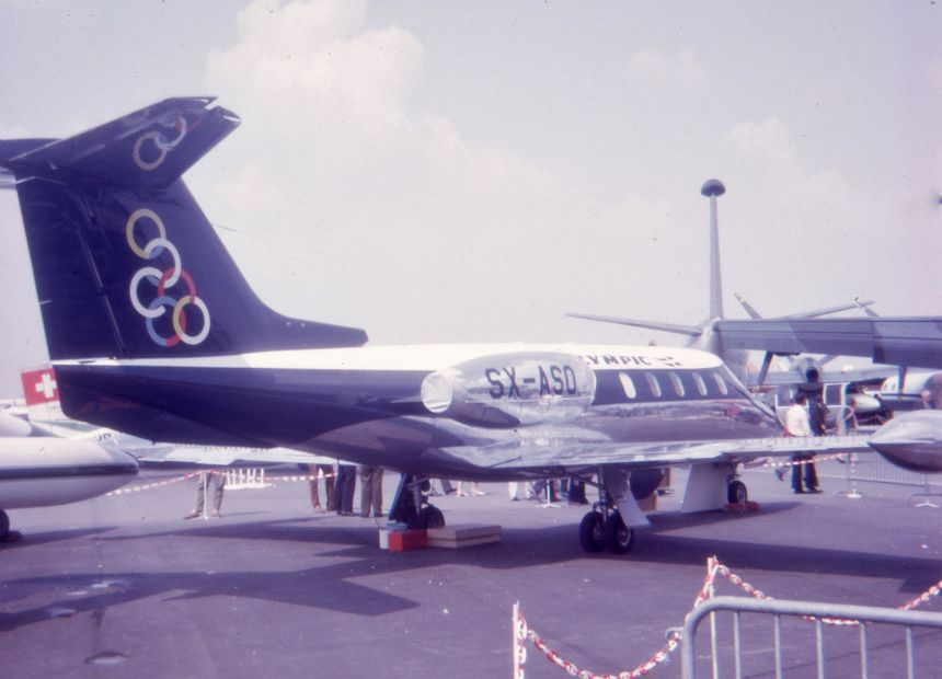 img498 Gates Learjet 25B SX-ASO Olympic Airways