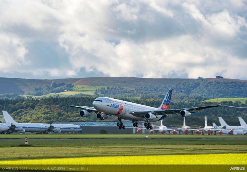 A340-laminar-flow-BLADE-demonstrator-first-flight-001