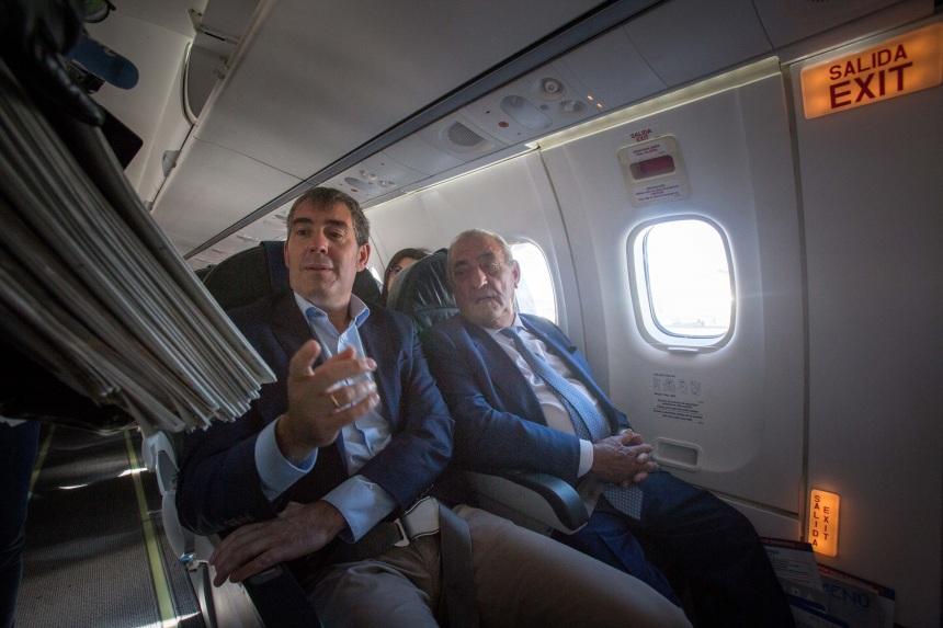 Presidente Clavijo y Presidente Hidalgo a bordo