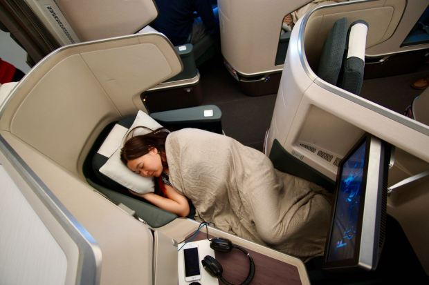Cathay-Pacific-A350-Business-Class-Lie-Flat-Bed
