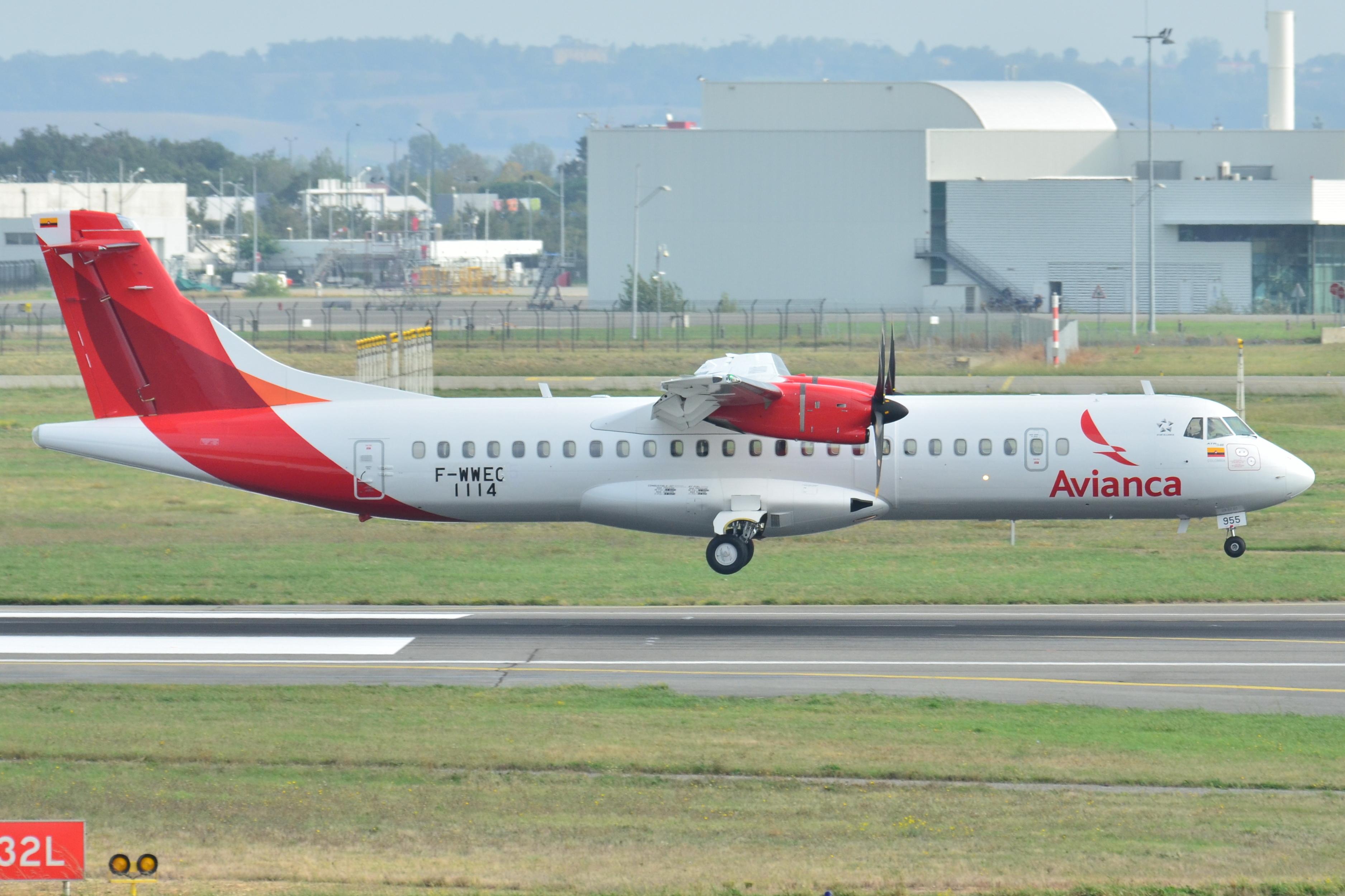 ATR_72-600_Avianca_(AVA)_F-WWEC_-_MSN_1114_-_Will_be_HK-4955_(10498384486)