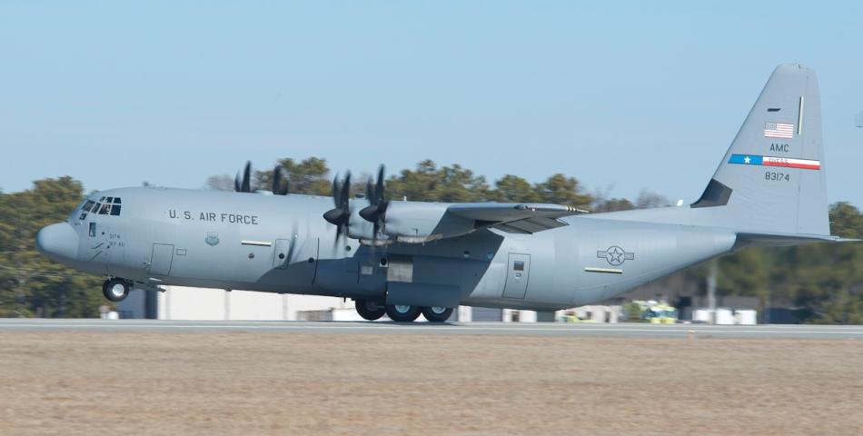 MP11-0095 Brig. Gen Lawrence Martin C-130J 5648 delivery 01-21