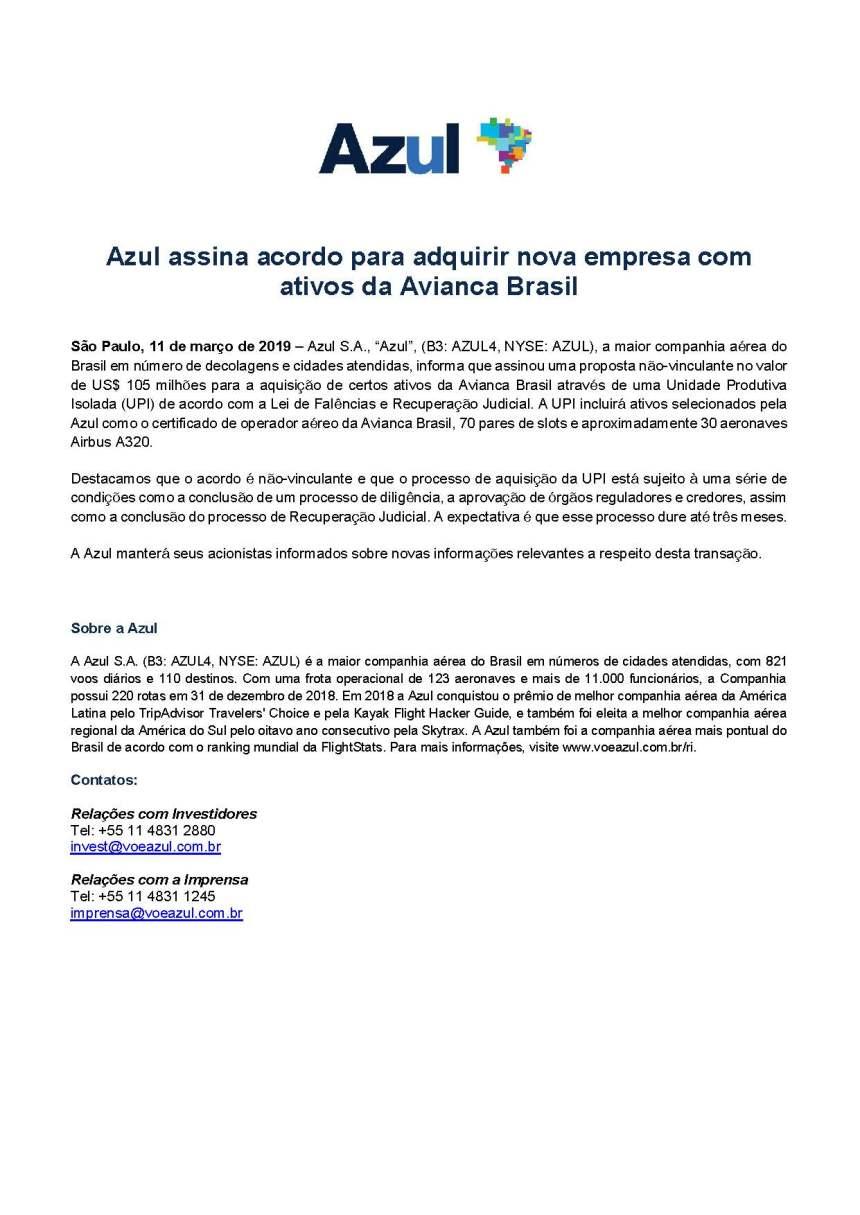Fato Relevante Azul _PT_vf_20190311